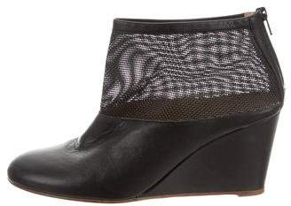 MM6 MAISON MARGIELA Leather Wedge Booties