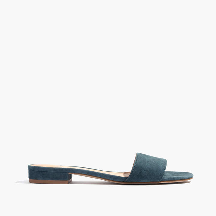 The Caren Slide Sandal in Suede