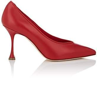 Manolo Blahnik Women's Urgenzapla Leather Pumps - Red Leather