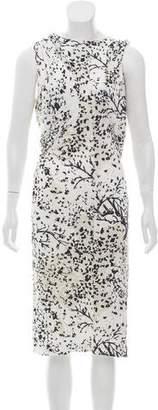 Balenciaga Printed Cutout Dress