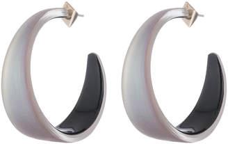 Alexis Bittar Wide Graduated Medium Hoop Lucite Earring