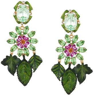 Dolce & Gabbana hanging leaves earrings