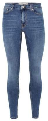 Topman Mens Blue Indigo Super Spray On Jeans