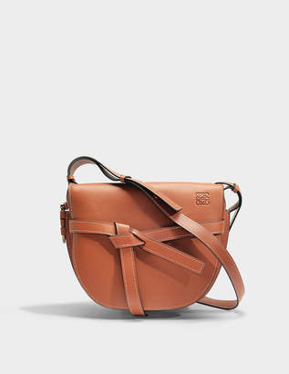Loewe Gate Bag in Rust Soft Natural Calf