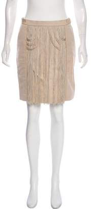 Viktor & Rolf Linen Fringe-Trimmed Skirt