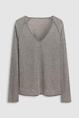 Next Womens Berry Metallic V-Neck Sweater