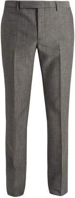 Saint Laurent Slim-leg wool and mohair-blend trousers