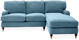 Robin Bruce Brooke Right-Facing Sectional - Col. Blue Crypton