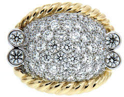 Valentin Magro Triple-Rope Diamond Pave Ring, Two-Tone