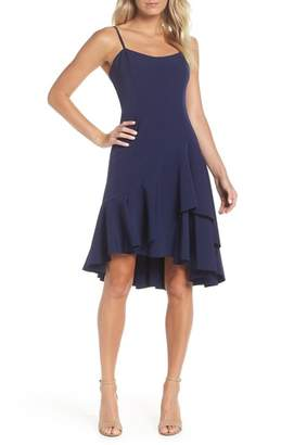 Vince Camuto High\u002FLow Ruffle Hem Dress