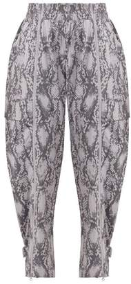 adidas by Stella McCartney Performance Snakeskin Print Track Pants - Womens - Grey Print