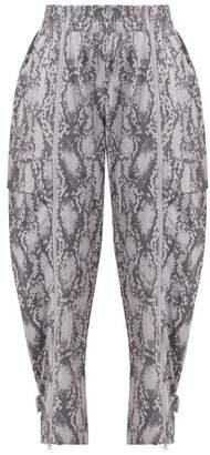 5f88a60575b5 adidas by Stella McCartney Performance Snakeskin Print Track Pants - Womens  - Grey Print