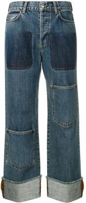 J.W.Anderson Women's Shaded Pocket Detail Denim Trousers