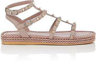 Valentino Women's Rockstud Torchon Leather Platform Sandals