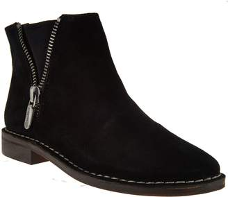 Clarks Somerset Suede Ankle Boots - Cabaret Ruby