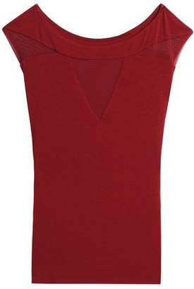 Bailey 44 Mesh-Paneled Stretch-Jersey Top