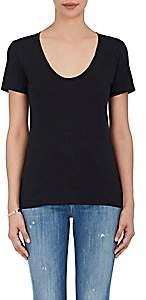 Barneys New York Women's Pima Cotton Scoopneck T-Shirt - Black
