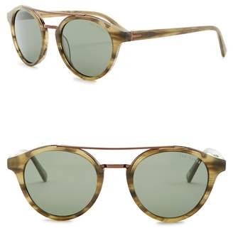 Ted Baker 51mm Polarized Round Sunglasses