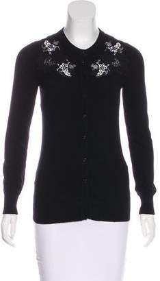 Dolce & Gabbana Lace-Accented Cashmere Cardigan
