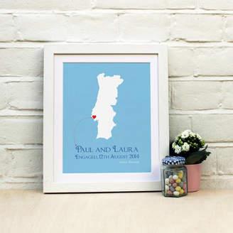 Brambler Engaged In Portugal Print