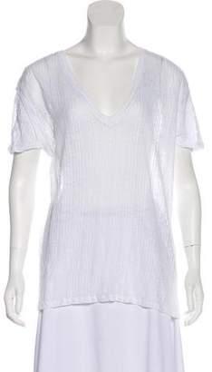 IRO Short Sleeve Semi-Sheer Top