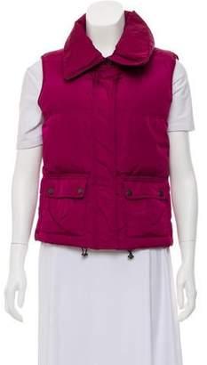 Burberry Nova Check-Lined Puffer Vest