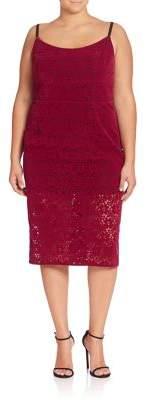 ABS, Plus Size Floral Lace Sheath Dress