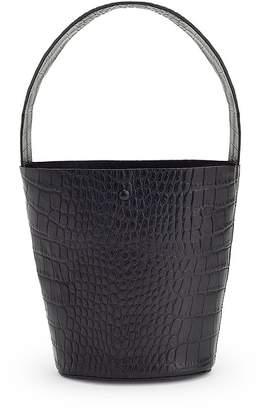 Cuyana Croc-Embossed Wide Strap Mini Bucket Bag