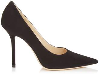 Jimmy Choo LOVE 100 Black Suede Pointy Toe Pumps