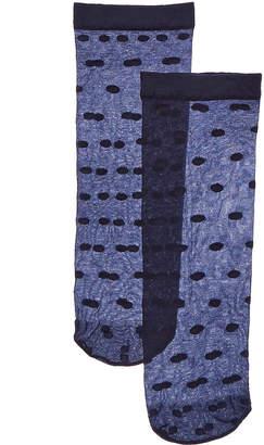 Emilio Cavallini 2Pk Sheer Socks