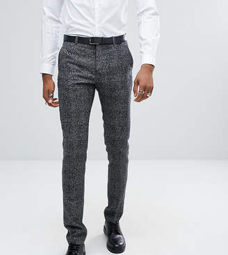 Asos DESIGN TALL Slim Suit Pants In Moons Wool Rich Monochrome Check