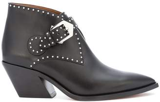 Givenchy studded buckle ankle boots