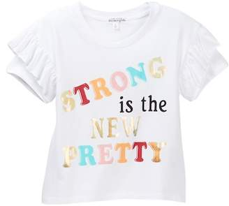 Ten Sixty Sherman Strong is the New Pretty Ruffle Sleeve Tee (Big Girls)