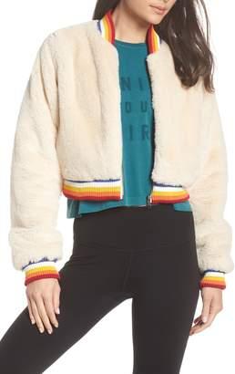 Spiritual Gangster Furry Bomber Jacket