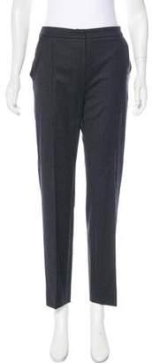 Oscar de la Renta Wool High-Rise Pants