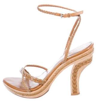 Christian Dior Leather Strap Platform Sandals
