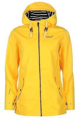 Gelert Womens Coast Jacket Top Coat Waterproof High Neck Hooded Full Zip