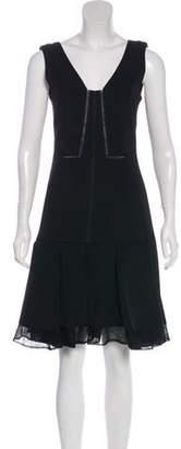J. Mendel Lace-Trimmed Mini Dress