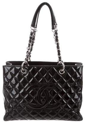Chanel Patent Leather Grand Shopping Tote