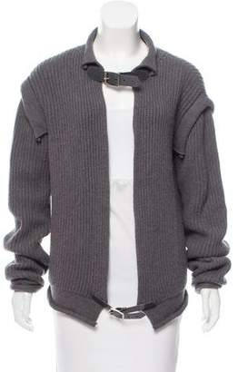 Christopher Kane Leather-Accented Cashmere Cardigan