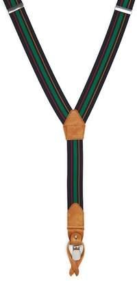 Magnanni Striped Print Suspenders