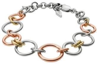 Fossil Tri-Tone Circle Bracelet Bracelets