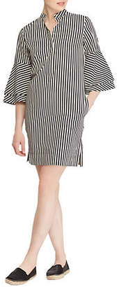 Lauren Ralph Lauren Casual Striped Cotton Shirt Dress