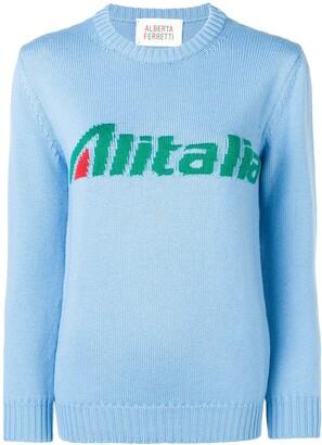 Alberta Ferretti Alitalia knit sweater