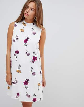 Gilli floral print sleeveless shift dress