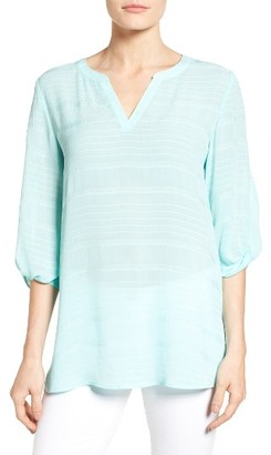 Women's Chaus Crinkle Split Neck Top $79 thestylecure.com