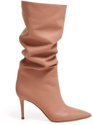 Gianvito Rossi Suzan 85 Knee High Leather Boots - Womens - Nude