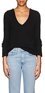 The Row Women's Aetra Brushed Cashmere-Blend Sweater-Black