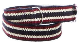 Isabel Marant Striped Canvas Belt
