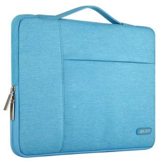 Mosiso Polyester Fabric Multifunctional Sleeve Briefcase Handbag Case Cover for 13-13.3 Inch Laptop, Notebook, MacBook Air/Pro,Sky-Blue